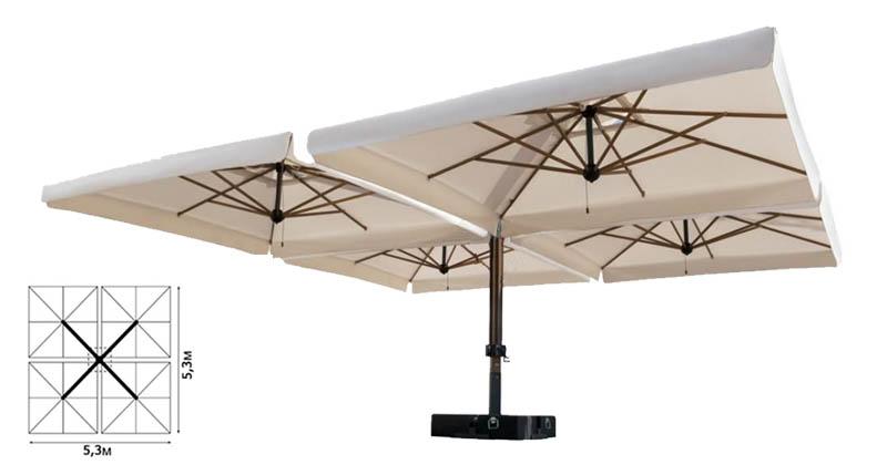 Четырехкупольный зонт
